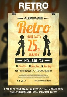 Amazing Retro Flyer Designs For Designers Inspiration | Modny73
