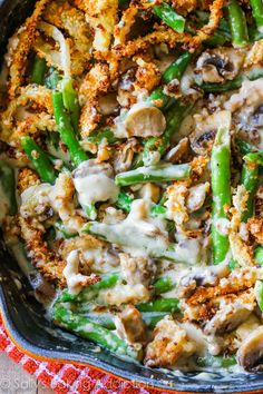 Creamy green bean casserole from scratch. This undeniably rich side dish will put that thanksgiving turkey to shame!