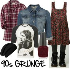 90's grunge. Boots and flannel shirts, my HS uniform. :)