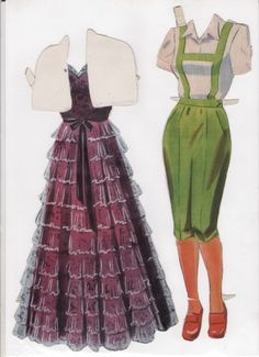 Danish Woman paper doll 8.....SET-60