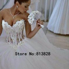 2015-Sexy-Custom-Made-vestido-de-noiva-A-Line-See-Through-Back-Long-Sleeve-Wedding-Dresses-vestidos-de-noivas-0