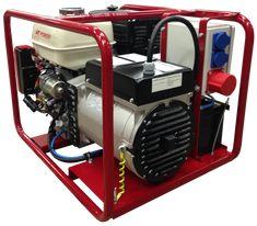 Poweri 7/10H-S 10 kVA / 6,4 kW / 3-vaiheinen Bensiiniaggregaatti