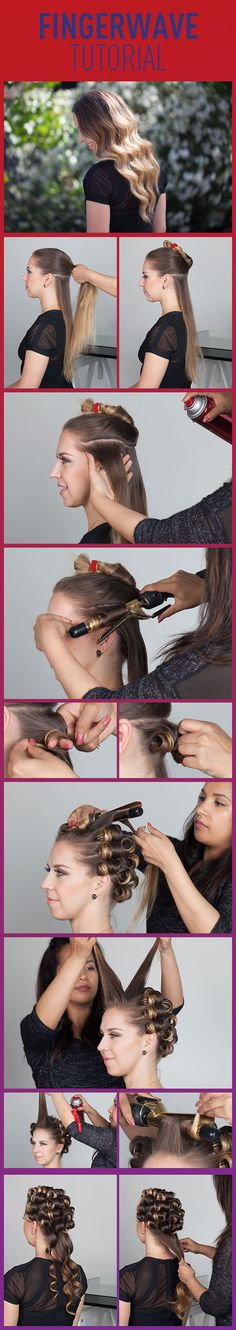 Finger Wave Tutorial! Such a classic look and it is completely on trend right now! (How To Make Curls Tighter)