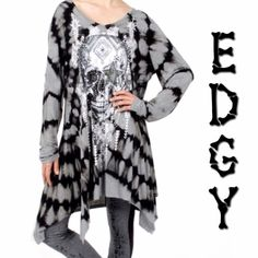 REORDERED!HP 11/8NOT JUST FOR HALLOWEEN! People love skulls and Dia de los Muertos (Day of the Dead) all year long! No longer is it just a certain time of the year - have fun being the center of attention in this fun top! Polyester/spandex and lots of bling. PLEASE DO NOT BUY THIS LISTING, I will personalize one for you. BE WEIRD, IT'S MORE FUN tla2 Tops Tunics