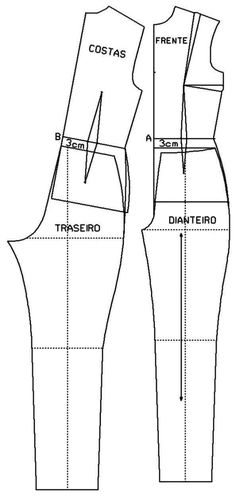 Sewing Stitches For Beginners Jumpsuit Pattern, Pants Pattern, Dress Sewing Patterns, Clothing Patterns, Fabric Sewing, Blouse Patterns, Costura Fashion, Sewing Blouses, Sewing Pants
