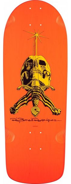 POWELL PERALTA Skateboard Deck Ray Rodriguez Skull and Sword OG Snub