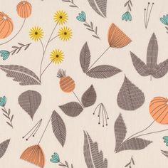 English Garden | Grey from Grey Abbey by Elizabeth Olwen for Cloud9 Fabrics