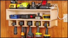 Cordless drill storage and charging station | DIY projects for ...