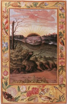 The Splendor Solis. The work itself consists of a sequence of 22 elaborate images, set in ornamental borders and niches. The symbolic process shows the classical alchemical death and rebirth of the king, and incorporates a series of seven flasks, each associated with one of the planets.