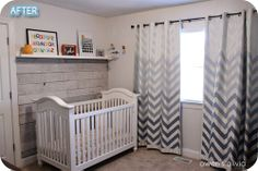 OMG These Ombre Chevron Curtains are AWESOME!!! (So is the rest of the nursury)