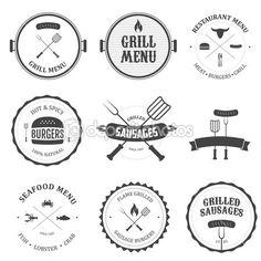 Restaurant menu design elements set — Imagen vectorial #19585531