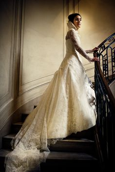 lace Dior wedding dress