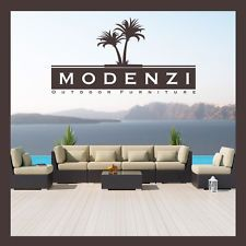 MODENZI DELUXE 7G Modern Outdoor PE Wicker Sofa Patio Furniture Set Couch Chairs