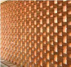 Resultado de imagem para terraço com paredes de cobogo e com tijolo aparente