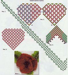 Схемы для плетения комплекта Маковка