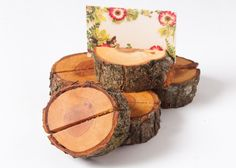 25 rustic wedding table number holder place card by DINDINTOYS, €25.00
