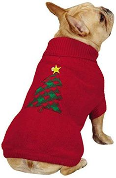 East Side Collection Holiday Houndstooth Pet Sweater, Large, Red ** Continue to the product at the image link. (This is an affiliate link) #Pets