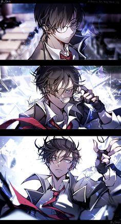 [ Kinesis// A Change of Appearance - Yoteh's illustrations - pixiv Manga Anime, Boys Anime, Hot Anime Guys, Manga Boy, Cute Anime Boy, Anime Love, Persona Anime, Estilo Anime, Handsome Anime Guys