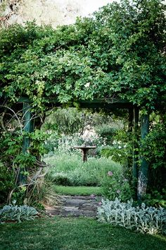 The wooden pergola is a good solution to add beauty to your garden. If you are not ready to spend thousands of dollars for building a cozy pergola then you may devise new strategies of trying out something different so that you can re Garden Arbor, Diy Garden, Garden Gates, Dream Garden, Garden Landscaping, Home And Garden, Cacti Garden, Meadow Garden, Garden Living
