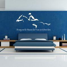 """Adesivo Murale - Cavallo.  Adesivo murale di alta qualità con pellicola opaca di facile installazione. Lo sticker si può applicare su qualsiasi superficie liscia: muro, vetro, legno e plastica.  L'adesivo murale """"Cavallo"""" è ideale per decorare la camera da letto. Adesivi Murali."""