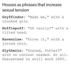 Slytherin is sooo legit