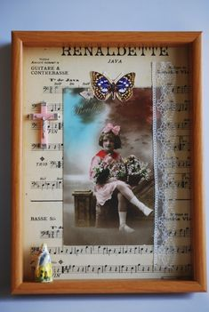 Fairymelody Fairymelody French Collage Box No.2 Creative Words, Creative Art, Collage Collage, Creative Photography, French, Wallpaper, Frame, Handmade, Picture Frame