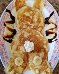 Made Easter style, breakfast. My family love it. 🥞🥞🥞 #easter #breakfast #pancakes #family #love #blessed #bemaifamily