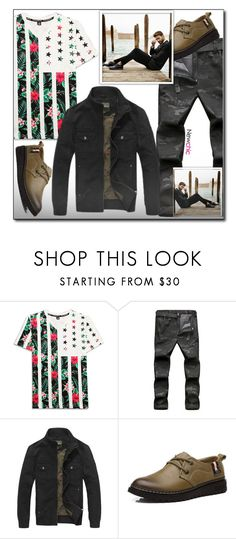"""""""Newchic (24/XII)"""" by dorinela-hamamci ❤ liked on Polyvore featuring men's fashion and menswear"""
