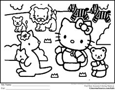 Coloring Pages Hello Kitty Zoo