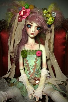 One of a Kind Porcelain BJD Ball Jointed Dolls by  Aiis Roman at www.ForgottenHearts.com