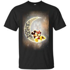 Mickey Minnie Shirts I Love You To The Moon & Black Hoodies Sweatshirts