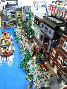 Incredible Lego landscape. Great detailing on the boat travelling through the water.