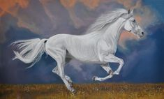 """White Wilde"" Pastel on paper 29X42 by Stefano Orio"