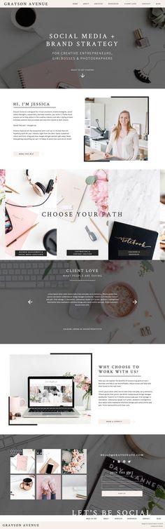 Website Templates | Jessica Gingrich Creative | Branding and Design