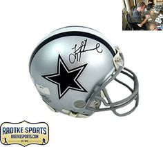 Troy Aikman AutographedSigned Dallas Cowboys Grey Riddell NFL Mini Helmet *** Click image for more details. (This is an affiliate link and I receive a commission for the sales)