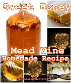 This Sweet Honey Mead Wine Homemade Recipe is far easier to make than you can ever think. Mead is fermented with three basic Mead Wine Recipes, Homemade Wine Recipes, Mead Recipe, Homemade Liquor, Alcohol Recipes, Drinks Alcohol, Beer Brewing Kits, Brewing Recipes, Homebrew Recipes