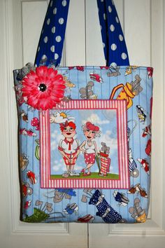 """""""You Golf Girl"""" bag! This fabric is sold at https://www.etsy.com/shop/AllenHeart FUN! FUN!"""