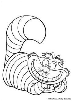 Free Cheshire Cat Printable Coloring Page. / #aliceinwonderland