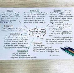 Mapa mental sobre INQUÉRITO POLICIAL para OAB. Bullet Journal Graphics, Study Journal, Journal Aesthetic, Study Notes, Law School, Motivation, Student, Tips, Vestibular