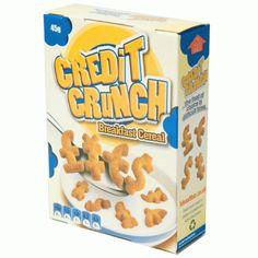 Credit Crunch Breakfast Cereal | shedsimove.com