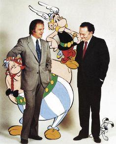 urdezo y goscinny con obelix y asterix