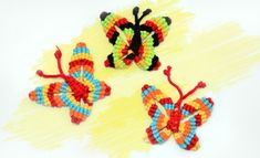 How to make a Macrame Butterfly - Video tutorial
