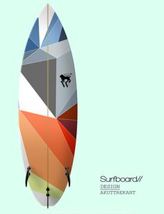 Sven Wagner Surfboard Design (not sure if should be on the 'Hangin' 5' or 'Design' board. It's amazing :D