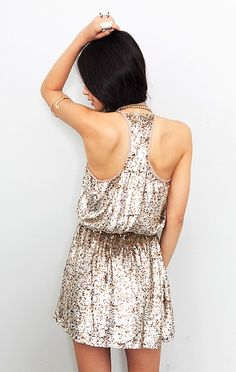 sequin racer back dress