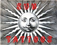 Considering a sun tattoo?  This article, which details the history, design, and meaning of the sun tattoo, will help you decide, with sun-and-moon tattoos, tribal, Celtic design, and many photos.