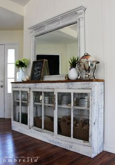 I say it all the time, but I'm going to say it again. I love the power of paint! I decided to give my rustic coffee station a makeover, and I'm in love. diy Dining room hutch How to Create a Rustic Coffee Station Repurposed Furniture, Rustic Furniture, Painted Furniture, Diy Furniture, Furniture Dolly, Coaster Furniture, Antique Furniture, Furniture Design, Furniture Projects