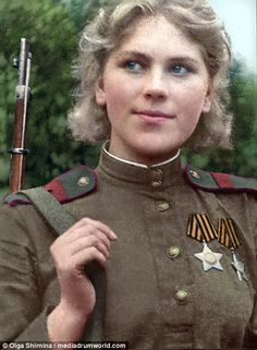 Roza Shanina was responsible for 59-confirmed kills during the Second World War. Her portr...