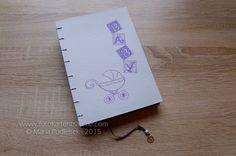 Babytagebücher - Handgebundenes BABYTAGEBUCH - Pram - ein Designerstück von mpodleisek bei DaWanda