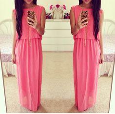 Dress melon long