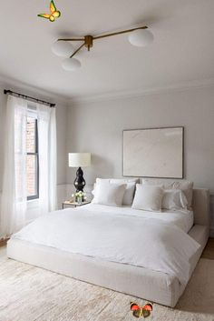 Safe Haven – Naturepedic and Coyuchi | EyeSwoon -  neutral cozy bedroom #home #style  - #ArtLessons #coyuchi #Design #eyeswoon #FamousArtists #haven #InteriorDesign #naturepedic #safe<br> Serene Bedroom, Master Bedroom Design, Bedroom Colors, Home Decor Bedroom, Master Suite, Bedroom Designs, Bedroom Neutral, Bedroom Inspo, All White Bedroom